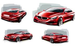 Wallpaper BMW, BMW, white background, sedan, F30, Sedan, 3-Series