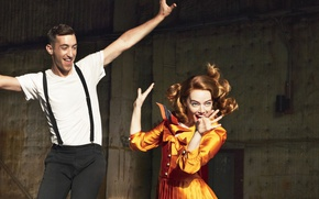 Picture girl, dance, makeup, dress, hairstyle, guy, redhead, Emma Stone, Emma Stone, Vogue