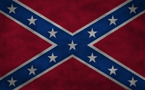 Picture stars, flag, America, States, rednek, Confederation