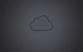 Picture contour, grey background, cloud, cloud