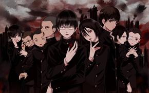 Picture group, anime, guys, litchi hikari club
