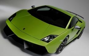 Picture car, green, Lamborghini, Superleggera, Gallardo, front, LP570-4