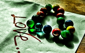 Picture balls, love, heart, colored, feelings, love, glass, words, shiny