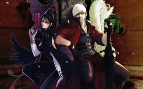Picture game, weapons, guns, swords, games, Dante, Dante, guns & swords, Bayonetta, Your yukikase, fanart, Bayonetta ...