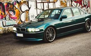 Picture lights, BMW, drives, classic, bmw e38, 740il