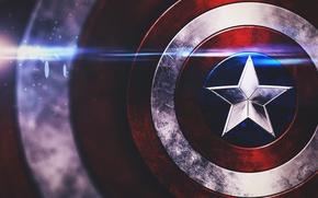 Picture star, shield, captain america, marvel comics