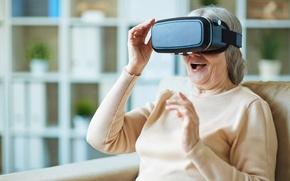 Wallpaper woman, Oculus, surprise, eyewear, virtual reality