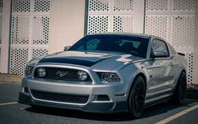 Picture Mustang, Ford, Black, RTR, Wheels