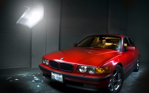 Picture red, Boomer, seven, e38, bumer, bmw 740
