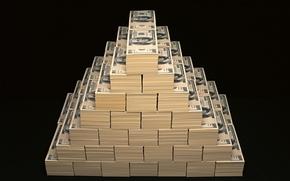 Picture money, pyramid, dollars, the bucks