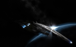 Picture space, the game, ship, planet, game, space, Normandy, mass effect, spaceship, normandy, sr2