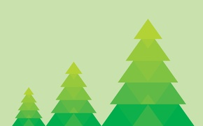 Wallpaper background, tree, minimalism, green