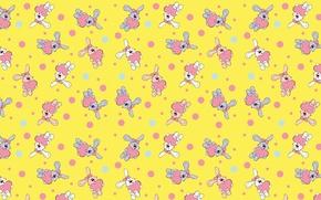 Picture background, heart, texture, art, Valentine, Bunny, children's
