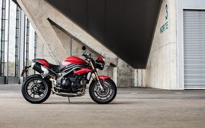 Picture Red, moto, bike, power, naked, Triumph, 2016, SpeedTriple