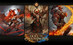 Picture Might & Magic: Duel of Champions, Cal-Azahar, Lilim with a whip, Attack Ur-Krag
