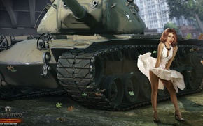Picture girl, skirt, tank, girl, USA, tanks, WoT, World of tanks, tank, World of Tanks, tanks, …
