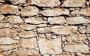 Picture wall, stone, texture, brown
