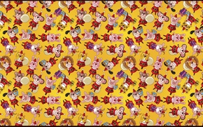 Picture texture, gifts, lions, tigers, bears, goats, bunnies, fun background, pigs