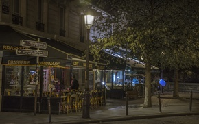 Picture night, romance, Paris