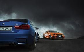 Picture German, Cars, Storm, BMW M4, Lexus RC F, Middle East