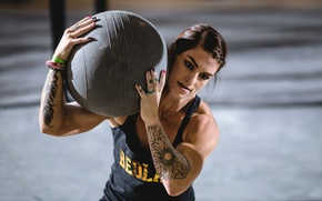 Picture tattoos, weight, ball, crossfit, technique