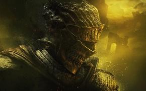 Wallpaper armor, warrior, helmet, knight, armor, Namco Bandai Games, From Software, Dark Souls III