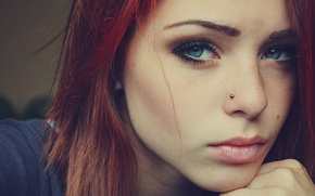 Picture look, Girl, eyes, beautiful, redhead