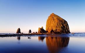 Picture rock, stones, shore