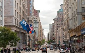 Wallpaper machine, the city, people, skyscrapers, Manhattan, New York, New York, Manhattan