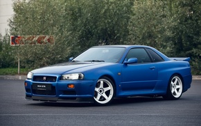 Picture GTR, Nissan, Blue, Skyline, R34, V-SPEC