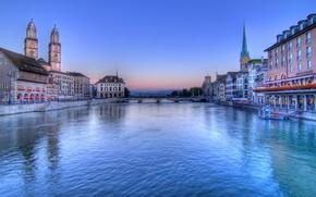 Picture bridge, river, home