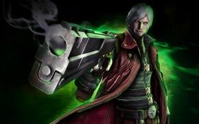 Wallpaper Capcom, devil may cry 4, white hair, Dante, gun