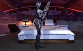 Picture mass effect, EDI, Sniper rifle, Dr. Eva