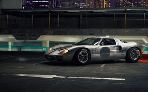 Picture night, supercar, autowalls, Ford GT40