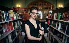Picture girl, books, Maxim Guselnikov, Karina Maksimova, Books Gives Us Wings