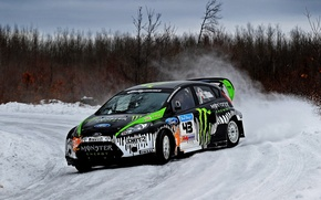 Picture Ford, Winter, Auto, Trees, Snow, Forest, Ford, Skid, Drift, Rally, Block, Ken, Fiesta, Fiesta, Unit, …