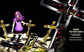 Picture void, cracked, cross, cemetery, art, air gear, black magic, oh! great, Kururu Sumeragi
