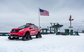 Picture winter, Concept, snow, Alaska, USA, Nissan, Murano, '2016, Winter Warrior