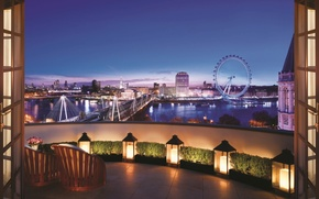 Picture twilight, London, terrace, Corinthia hotel, Royal Penthouse