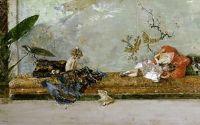 Picture picture, genre, Mariano Fortuny, Children Of The Artist, Japanese Class, Maria Luisa and Mariano