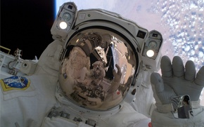 Wallpaper astronaut space suit orbit, space