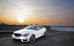 Wallpaper Photography, Vaeth Mercedes-Benz, Photo, Parking, City, Сoupe, cars, auto, Amg, with 63, C 63 AMG, ...