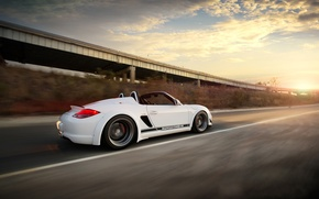 Wallpaper Clouds, Auto, Road, Tuning, Speed, Machine, Porsche Boxter