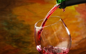 Picture wine, red, glass, bottle