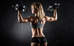 Picture muscle, pose, fitness