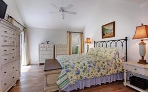 Picture design, photo, lamp, bed, interior, bedroom