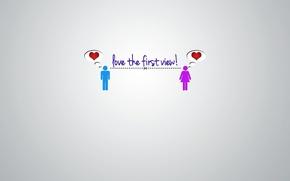 Picture minimalism, heart, Romantic, loving