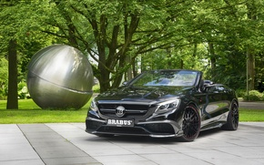 Picture black, Mercedes-Benz, convertible, Brabus, Mercedes, Black, Cabriolet, S-Class, A217