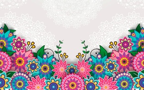 Picture flowers, bright, pattern