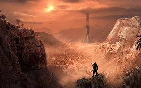 Picture mountains, the city, art, Prince, Prince of Persia, Persia